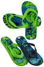 boys / girls dinosaur flip-flops new green or blue sizes 10,11,12,13,1,2