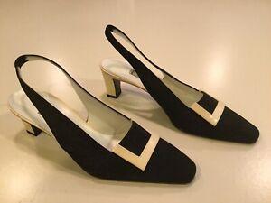 Casadei Slingbacks - Black, Cream, 7 1/2