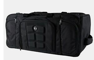 6 Pack Fitness Beast Duffle Solid Black Travel Fit Bag Meal Prep Insulated
