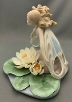 Lladro 6657 Wings of Fantasy Butterfly Lady Figurine with Water Lilies.Rare.