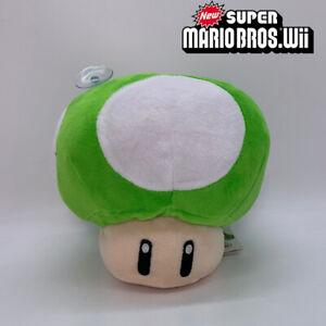 """New Super Mario Bros. Green 1-UP Mushroom Plush Soft Toy Doll Teddy 6.5"""""""