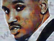 TREY SONGZ R&B ART PRINT POSTER OIL PAINTING LFF0208