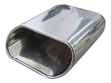 Ingresso di 50mm 1x Premium Acciaio Inox Tubo Finale Ovale Originale Qualità
