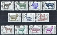 Bulgaria - 1991-92 11v. CTO NH Farm Animals