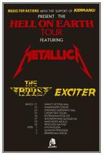 Metallica - POSTER - First UK Tour Kill Em All - The Rods EXCITER live THRASH