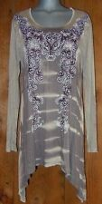 NEW VOCAL BLING TYE-DYED TUNIC top shirt blouse plus 3X slimming western vintage