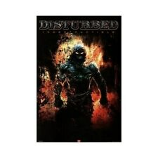 Disturbed Poster Flaming Dude Commercial Indestructible