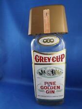 1909 GREY CUP FINE GOLDEN GIN CFL FOOTBALL 1965 GLASS BOTTLE CARRINGTON DISTILL