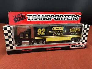 Matchbox Super Star Transporters #92 STANLEY Racing 1992 Ford Aeromax CY109