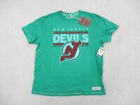 NEW Mitchell & Ness New Jersey Devils Shirt Adult 3XL XXXL Green Hockey Mens