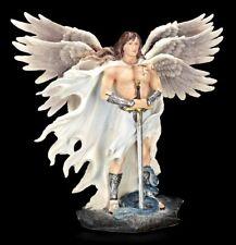 Erzengel Figur - Metatron mit Schwert und Schlange - Veronese Statue bunt