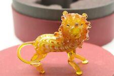 New Fitz & Floyd Glass Menagerie Figurine Gift Box Lion