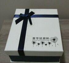 Luxury Unique Set Glass Tea Cup Royal Blue Rose Coffee Mug Gold Enamel Gift Box