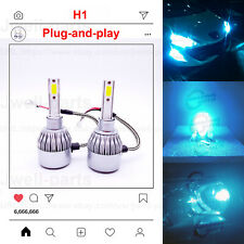H1 LED Headlight Bulbs Conversation Kit High Low Beam Fog Light 55W 8000K Blue