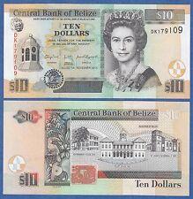 Belize 10 Dollars 2011 UNC P 68d  Low Shipping! Combine FREE! ( 68 d )