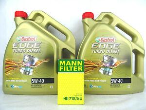 Castrol 5W40 Edge Turbo Diesel Motoröl + MANN HU718/5x Ölfilter 1535BC 10Liter