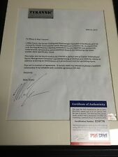 AUTOGRAPHED MIKE TYSON LETTER OF INTENT FRAMED FOR DEALS IN ASIA PSA SOME CREASE