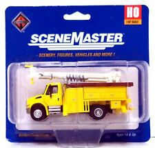 HO Scale Walthers SceneMaster 949-11732 International 4300 Utility Truck w/Drill