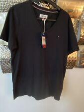 Mens M Medium Tommy Hilfiger T Shirt Top Black Bnwt