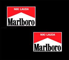Niki Lauda F1 Stickers x 2  Ferrari Formula 1 Stickers Decal Sticker 80mm