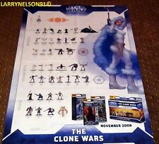 STAR WARS MINIATURES THE CLONE WARS POSTER PADME AHSOKA ANAKIN DOUBLE SIDED MAP