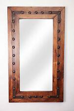 Los Olmos Mirror-Wood-Mexican-20x34-Rustic-Cowboy-Clavos-Western-Lodge