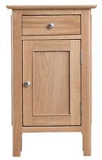 Bergen Light Oak Small 1 Door 1 Drawer Cupboard / Bedside - Scandanavian Retro