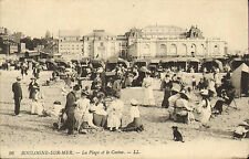 boulogne - sur -mer -la plage et le casino .early 1900s