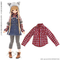 Azone Pureneemo Snotty cat Sunny Check Shirt Red Check Blythe Momoko Doll Pullip