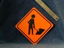 METAL  MINI  WORKER  TRAFFIC  SIGNS  MINIATURE SIGN