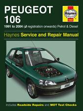 Haynes Manual 1882 Peugeot 106 1.0 1.1 1.3 1.4 1.6 Petrol 1.4 D 1.5 D 1991-2004