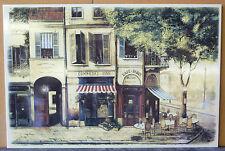 A Parisien Cafe & Restaurant Kitchen Splashback Scene on a single Ceramic Plaque