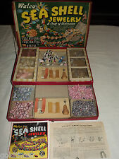 VINTAGE GAME TOY 1945 WALCO SEA SHELL JEWELRY DESIGN