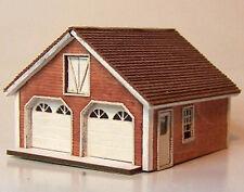 CAPE GARAGE N Scale Model Railroad Structure Unptd Wood Laser Kit RSL3033