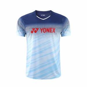 Men breathable Badminton T Shirt Tennis clothes Sport Run Tops