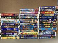 38 Vintage Children Kids VHS Movies Cartoons Disney Scooby Doo Elmo Jafar Pooh +