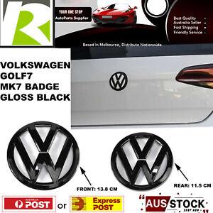VW VOLKSWAGEN For Emblem GOLF7 MK7 Badge Original Front &Rear Set Gloss Black AU