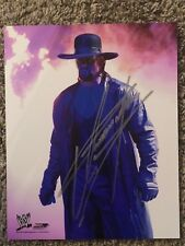Undertaker  signed  8x10 With COA WWE