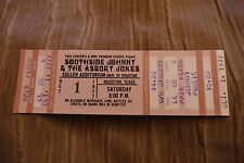 TICKET SOUTHSIDE JOHNNY & THE ASBURY JUKES 1977 USA
