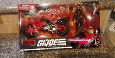 GI Joe Classified Baroness with Cobra Island Coil Motorcycle Target EXCLUSIVE