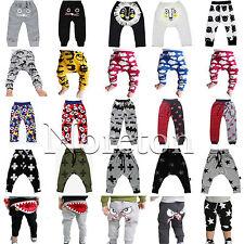 Baby Boy Girl Harem Pants Trousers Toddler Bottoms Slacks PP Leggings Clothes