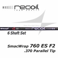 6 Shaft Set - UST Recoil 760 ES SmacWrap Black F2 Senior Flex Iron .370 Parallel