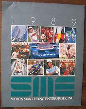 "1989 ""Sports Marketing Enterprises Calendar"" golf, auto racing, etc. with photos"