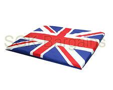 Union Jack LARGE Fabric & Foam Puppy Pet Dog Cat Mat Mattress Bed Nesting Basket