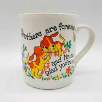 """Vintage, Unused """"Brothers Are Forever..."""" Puppy Love Coffee Mug Cup by JSNY"""
