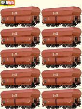 Brawa H0 45908 Selbstentladewagen-Set der DB/DR 10-teilig - NEU + OVP