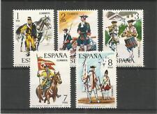 España 1974 Uniformes Militares serie 3RD SG, 2255-2259 u/Menta Lote 9721A