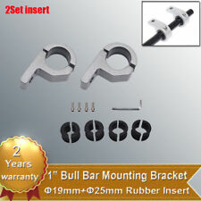 "2X 1"" 19mm 25mm Bull Bar Mount Bracket Roll Clamps For Led Light HID Off Road"
