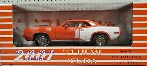 ERTL 1:18 '71 Plymouth Hemi 'Cuda Diecast Model 29166P MMW 1st Edition LE - NEW!