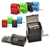 Hand Crank Grinder Crusher Tobacco Cutter Muller Shredder Plastic Smoking Case